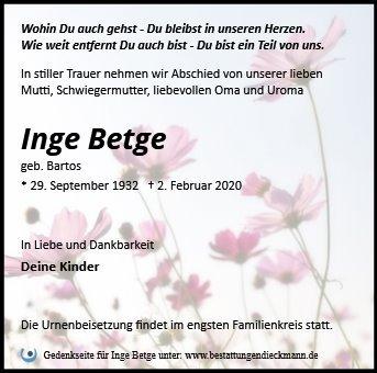 Profilbild von Inge Betge