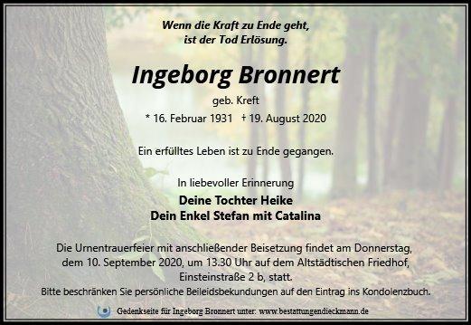 Profilbild von Ingeborg Bronnert