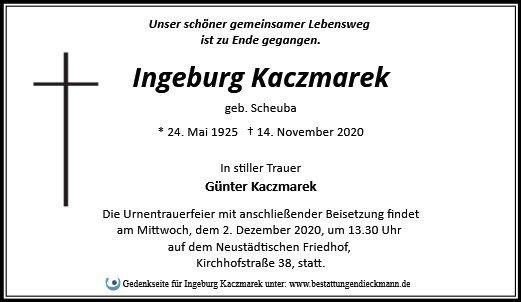 Profilbild von Ingeburg Kaczmarek