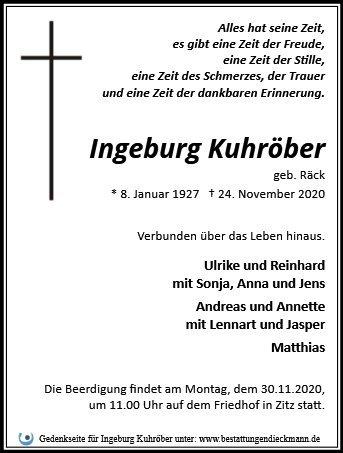 Profilbild von Ingeburg Kuhröber