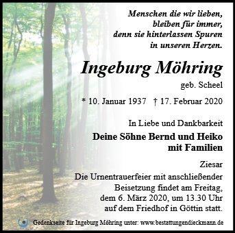 Profilbild von Ingeburg Möhring