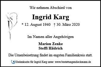 Profilbild von Ingrid Karg