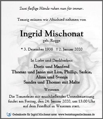 Profilbild von Ingrid Mischonat
