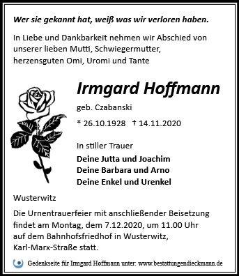 Profilbild von Irmgard Hoffmann