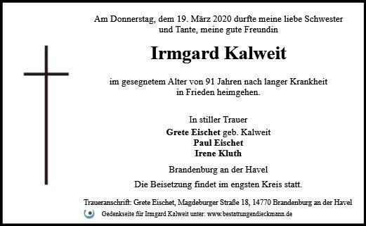 Profilbild von Irmgard Kalweit
