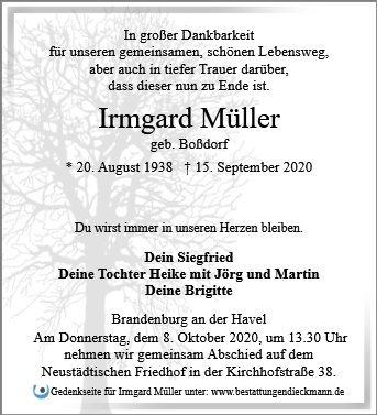 Profilbild von Irmgard Müller