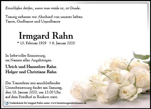 Profilbild von Irmgard Rahn