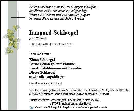 Profilbild von Irmgard Schlaegel