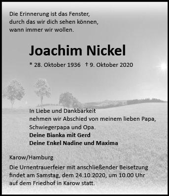 Profilbild von Joachim Nickel