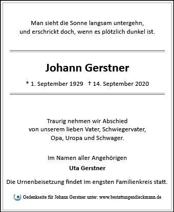 Profilbild von Johann Gerstner