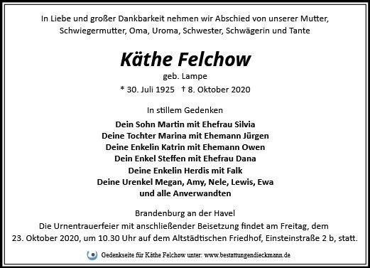 Profilbild von Käthe Felchow