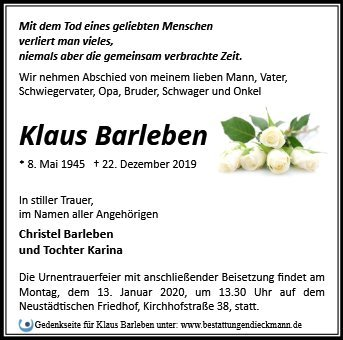 Profilbild von Klaus Barleben