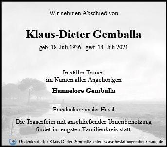 Profilbild von Klaus Dieter Gemballa