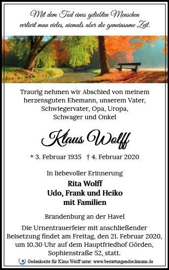 Profilbild von Klaus Wolff