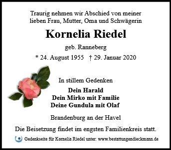 Profilbild von Kornelia Riedel