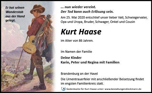 Profilbild von Kurt Haase