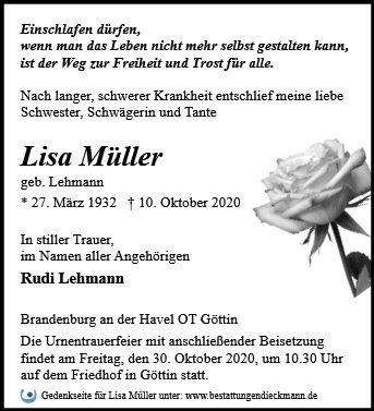 Profilbild von Lisa Müller