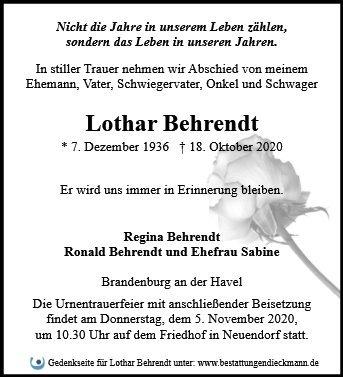 Profilbild von Lothar Behrendt
