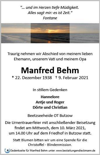 Profilbild von Manfred Behm