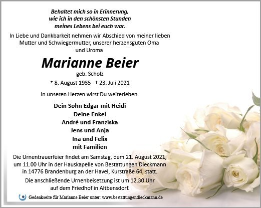Profilbild von Marianne Beier