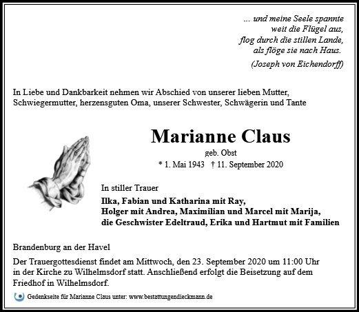 Profilbild von Marianne Claus