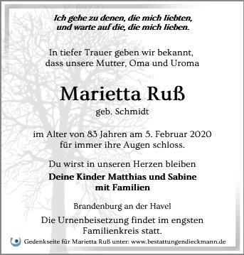 Profilbild von Marietta Ruß