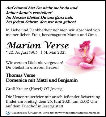 Profilbild von Marion Verse