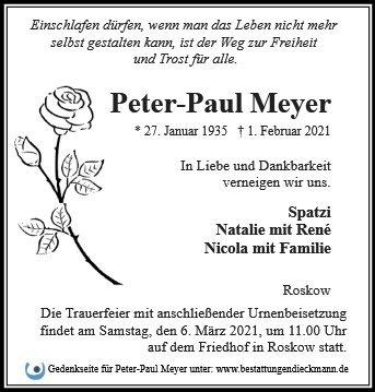 Profilbild von Peter-Paul Meyer