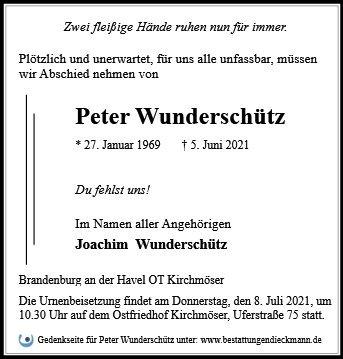 Profilbild von Peter Wunderschütz