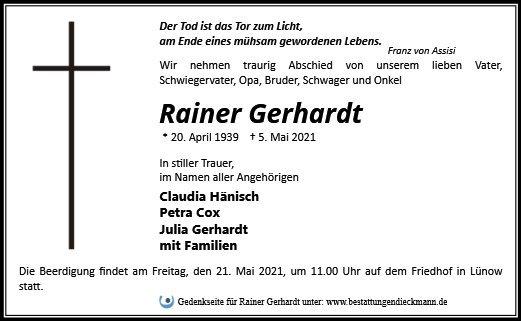 Profilbild von Rainer Gerhardt