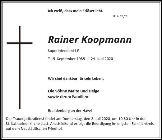 Profilbild von Superintendent i.R. Rainer Koopmann