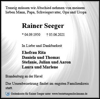 Profilbild von Rainer Seeger