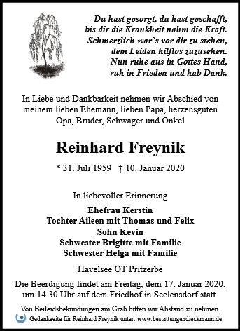 Profilbild von Reinhard Freynik