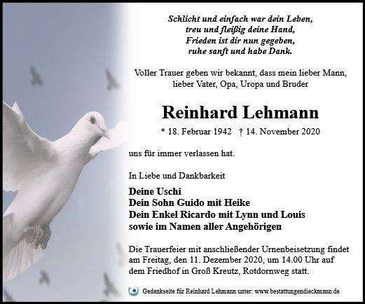 Profilbild von Reinhard Lehmann