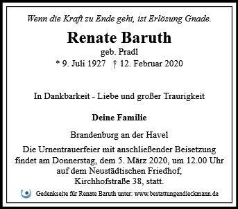 Profilbild von Renate Baruth
