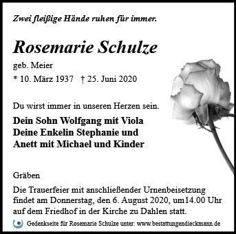 Profilbild von Rosemarie Schulze