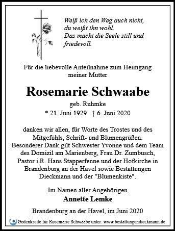 Profilbild von Rosemarie Schwaabe