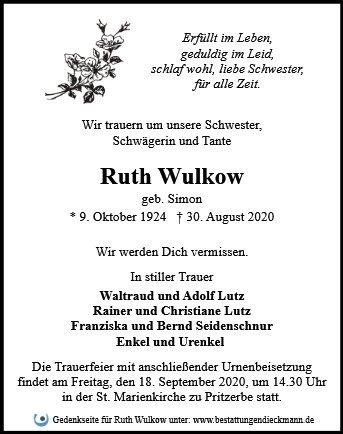 Profilbild von Ruth Wulkow