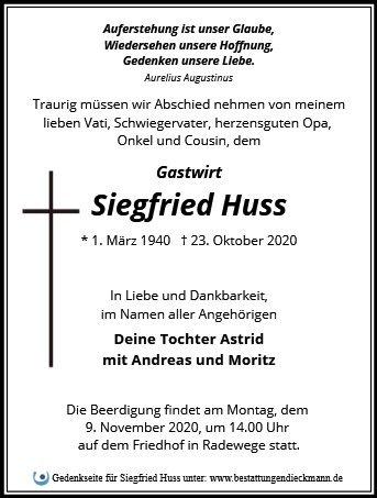 Profilbild von Siegfried Huss