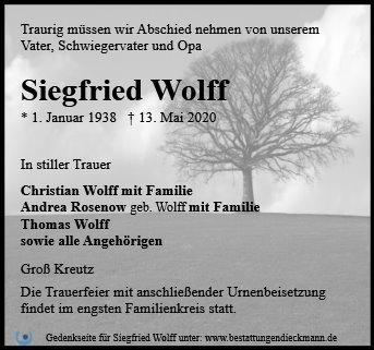 Profilbild von Siegfried Wolff