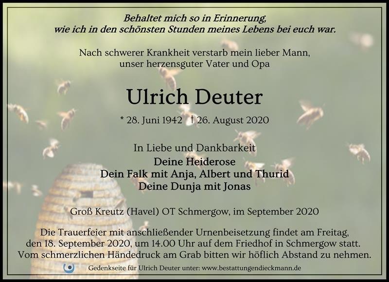 Profilbild von Ulrich Deuter