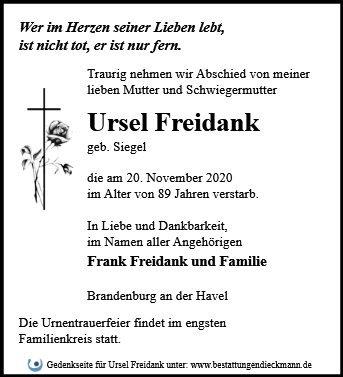 Profilbild von Ursel Freidank