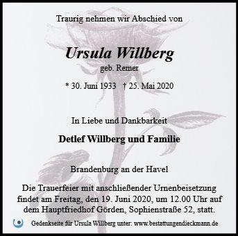 Profilbild von Ursula Willberg