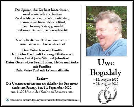 Profilbild von Uwe Bogedaly