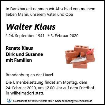 Profilbild von Walter Klaus