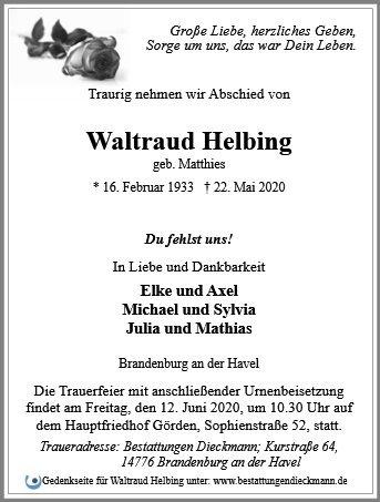 Profilbild von Waltraud Helbing