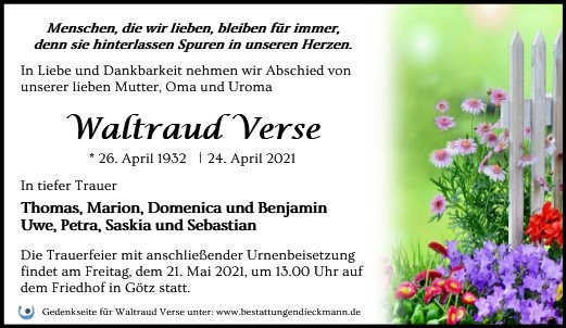 Profilbild von Waltraud Verse