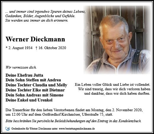 Profilbild von Werner Dieckmann