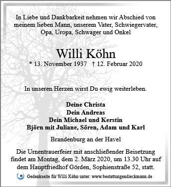 Profilbild von Willi Köhn