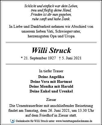 Profilbild von Willi Struck